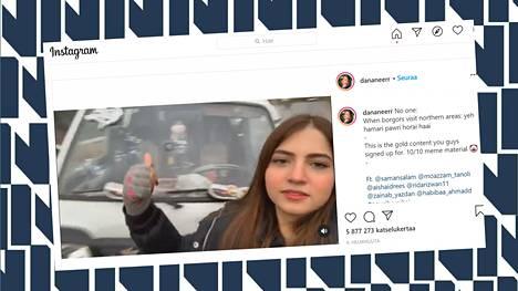 19-vuotias Dananeer Mobeen päivittää Instagram-tiliään yli 920 000 seuraajalle.