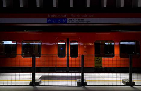 Metroa testattiin Koivusaaren tulevalla asemalla marraskuussa.