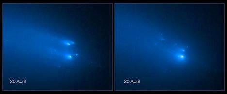 Hajonneen Atlas-komeetan rippeet lähestyvät nyt Maata ja Aurinkoa parvena.