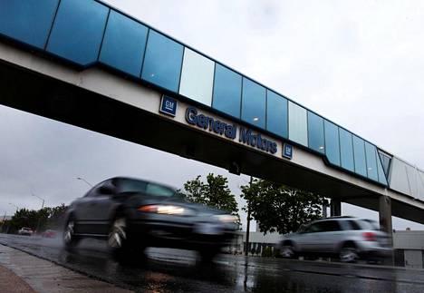 General Motorsin kokoonpanotehtaan portti Oshawassa Kanadassa.