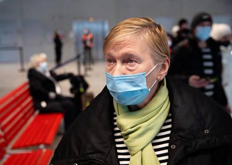 Erika Telvik jatkoi Helsingistä matkaansa Imatralle.