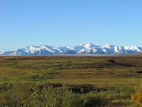 Mittaukset tehtiin Alaskan tundralla. Kuvassa taustalla näkyvät Brooksin vuoret.