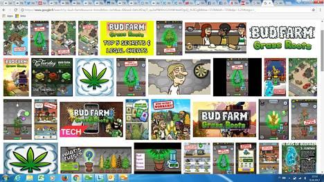 App Store- ja Google Play -sovelluskaupoista löytyy useita kannabiksen kasvatukseen liittyviä animaatiomobiilipelejä. Yksi niistä Bud Farm -niminen peli, joka kutsuu pelaajaa kasvattamaan oman ruohonsa ja perustamaan farmin.