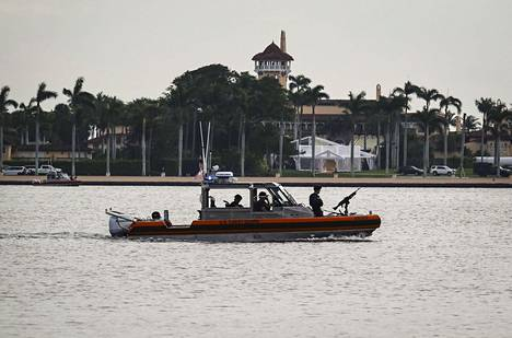 The Coast Guard patrolled the waters near Mar-a-Lago while Trump visited the resort in February last year.