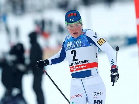 Viikko sitten Krista Pärmäkoski sijoittui toiseksi Lillehammerin mc-sprintissä (p).