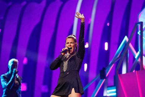 Saara Aalto edusti Suomea Euroviisuissa vuonna 2018.