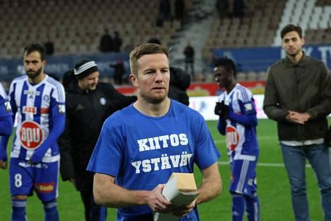 Sebastian Sorsa lopettaa uransa. Kuva kaudelta 2016 viimeisestä HJK:n paidassa pelatusta ottelusta.