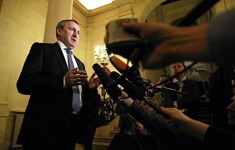 Ukrainan ulkoministeri Andriy Deštšitsja tapasi muita ulkomistereitä Pariisissa torstaina.