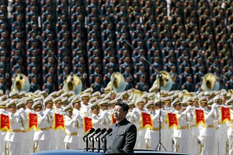 Kiinan presidentti osallistui viime viikolla toisen maailmansodan loppumisen vuosipäivän paraatiin.