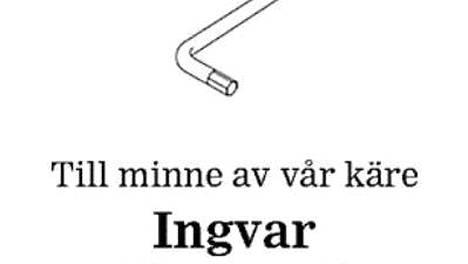 Smålandspostenissa julkaistu Ingvar Kampradin kuolinilmoitus.
