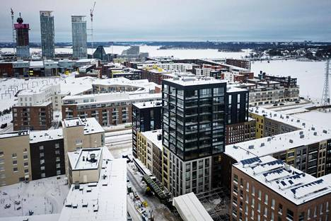 Helsingin kallein tänä vuonna valmistuva yksiö sijaitsee Sompasaaressa osoitteessa Flöitti Dianan kuja 3 G (keskellä).