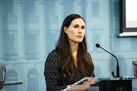 Pääministeri Sanna Marin (sd).