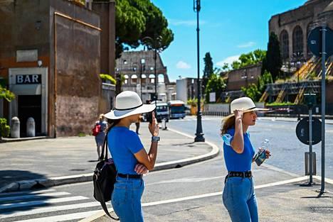 Etelä-Euroopan maat ovat kärsineet turistien puutteesta. Kuva on Roomasta viime viikolta.