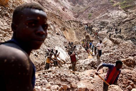 Koltaanikaivos itäisen Kongon Rubayassa vuonna 2019.