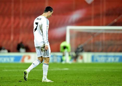 Cristiano Ronaldon peli päättyi ulosajoon.