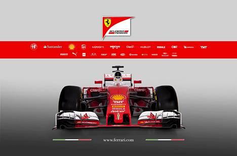 Tältä näyttää kauden 2016 Ferrari.