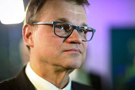 Juha Sipilä ennen eduskuntavaalien ennakkoäänien julkistusta.