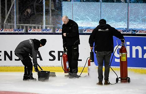 Västeråsin jäähallin jäätä ei saatu helmikuun alussa kuntoon.