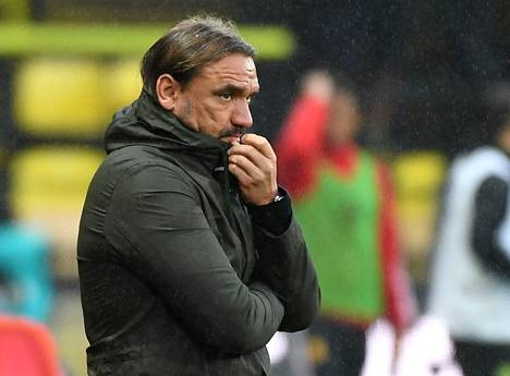 Norwichin valmentaja Daniel Farke ei näyttänyt tyytyväiseltä, kun joukkue hävisi Watfordille 2–1 viime tiistaina.