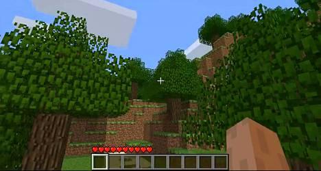 Minecraft-pelissä seikkaillaan kuutiomaailmassa.