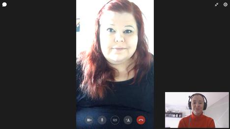 Krista Mannermetsä kuuluu riskiryhmään sydänvian ja vaikeahoitoisen astman takia. Mannermetsä haastateltiin videopuhelun välityksellä.