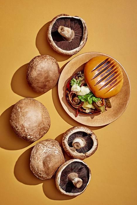 Portobellosienistä saa mahtavan täytteen burgeriin.