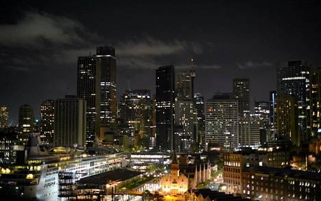 Australian Sydney oli tänään Eath Hourin aikana tavallista pimeämpi.