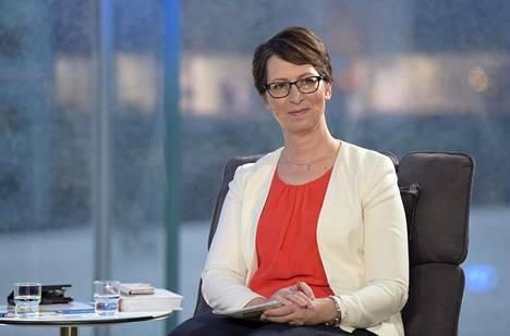 Kristillisdemokraattien puheenjohtaja Sari Essayah kuvattiin MTV3:n vaalitentissä 10. huhtikuuta.