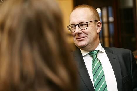 SAK:n puheenjohtaja Jarkko Eloranta SAK:n edustajiston kokouksessa viime marraskuussa.