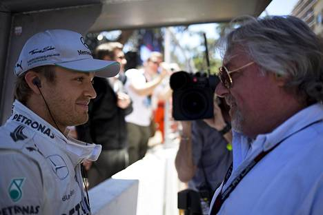 Nico ja Keke Rosberg Monacossa vuonna 2013.