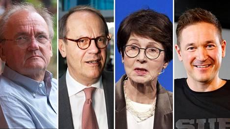 Antti Herlin, Jorma Ollila, Sari Baldauf ja Ilkka Paananen