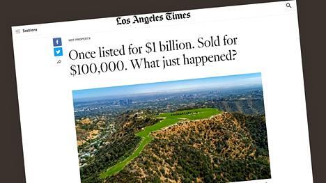 Muun muassa Los Angeles Times on kertonut tonttikaupasta.