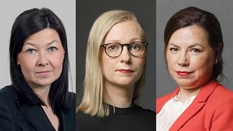 Päivi Happonen, Minna Passi ja Susanna Reinboth.