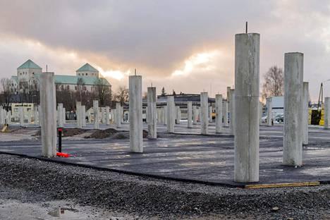 Pysäköintihallityömaa Turussa ei tiettävästi ole kärsinyt betoniongelmista.