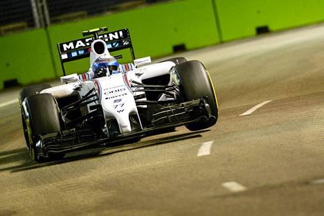 Valtteri Bottaksen Williams ei ole kulkenut Singaporessa toivotusti.