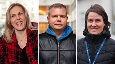 Maija Ilmoniemi, Antti Kantelinen ja Emma Koponen.