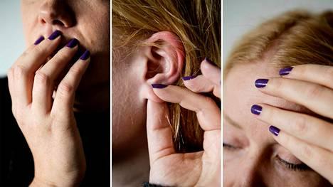 Kun ihminen koskettaa kasvojaan, aivojen sähköinen toiminta muuttuu.
