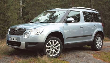 Škoda Yeti oli GTÜ:n katsastusten vähävikaisin auto.