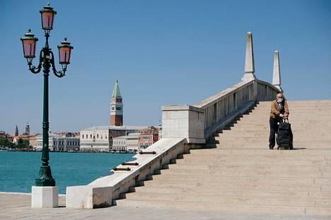 Venetsian kadut olivat hiljaisia 22. huhtikuuta.