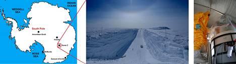 Concordian tutkimusasema on kaakkoisella Etelämantereella.