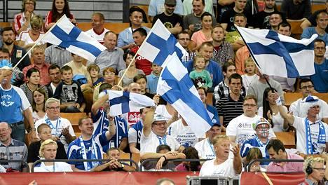 Puolan MM-kisoissa on ollut parhaimmillaan noin 5000 suomalaisfania kannustamassa maajoukkuetta.