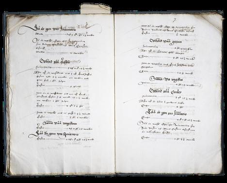 1500-luvulla kirjoitettiin huolellisia voudintilikirjoja.