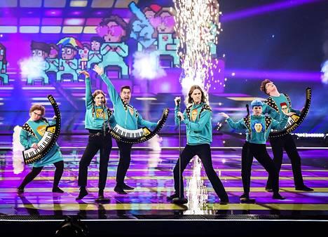 Islannin Daði og Gagnamagnið osallistui finaaliin koronakaranteenin vuoksi harjoitusvideolla.