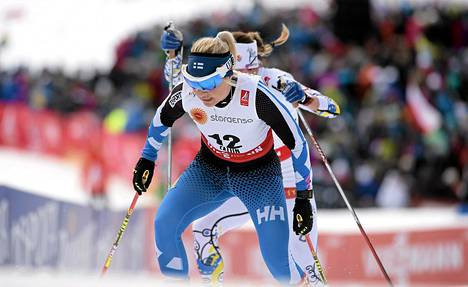 Riitta-Liisa Roponen oli lauantaina kahdeksas.