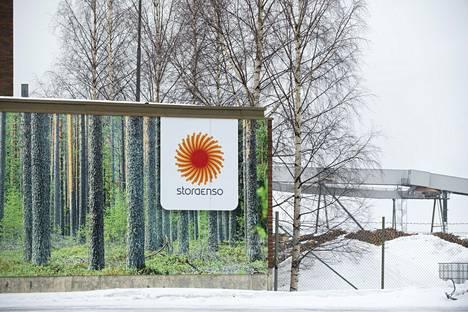 Stora Enson pääportti Oulussa.
