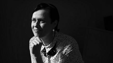 Maarit Feldt-Ranta 50-vuotishaastattelun kuvassa huhtikuussa 2018.