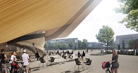 Keskustakirjaston arkkitehtikilpailun voitti ehdotus Käännös. Puisen rakennuksen hinnaksi on arvioitu 94 miljoonaa euroa.