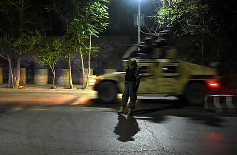 Afganistanin turvallisuusjoukot syöksyivät Wazir Akbar Khanin alueelle.