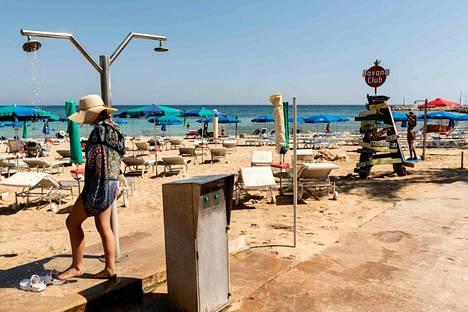 Kyproksen matkojen oli tarkoitus alkaa syyskuussa, mutta nyt tilanne on vielä auki. Kuva heinäkuun lopulta Ayia Napasta.
