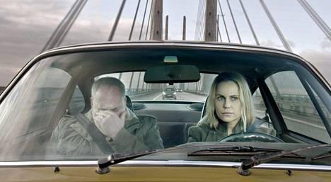 Kim Bodnia ja Sofia Helin olivat mukana Silta-sarjan ensimmäisellä ja toisella tuotantokaudella.
